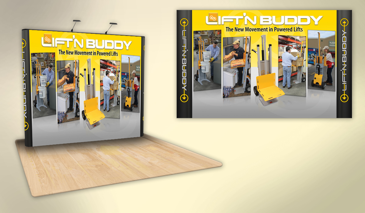 Lift'n Buddy Booth Graphic