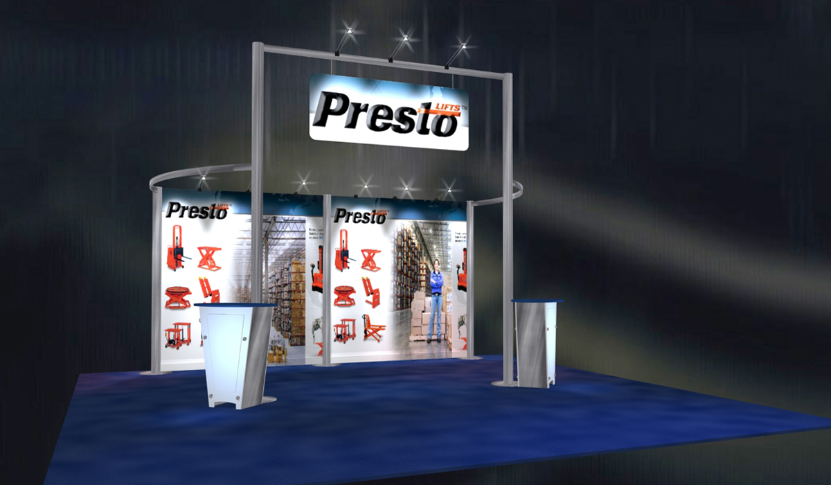 Presto Lifts Booth Graphics
